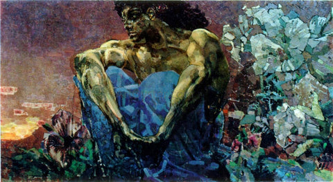 Michael Vrubel A Demon Sitting - Hand Painted Oil Painting