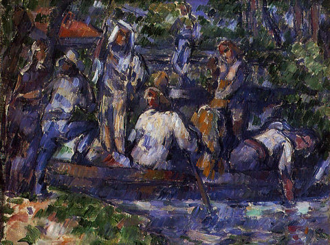 Paul Cezanne Departure by Water - Hand Painted Oil Painting