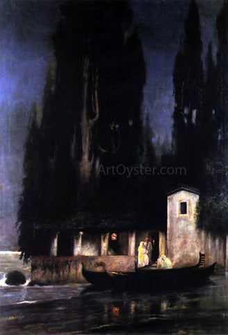 Henryk Hector Siemiradzki Departure from an Island at Night - Hand Painted Oil Painting