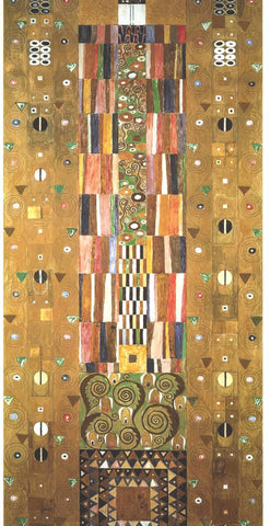 Gustav Klimt Design for the Stocletfries - End of the wall - Hand Painted Oil Painting