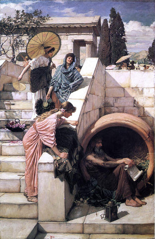John William Waterhouse Diogenes - Hand Painted Oil Painting
