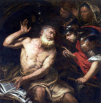 Giovanni Battista Langetti Diogenes and Alexander - Hand Painted Oil Painting