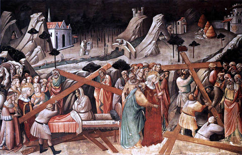 Agnolo Gaddi Discovery of the True Cross - Hand Painted Oil Painting
