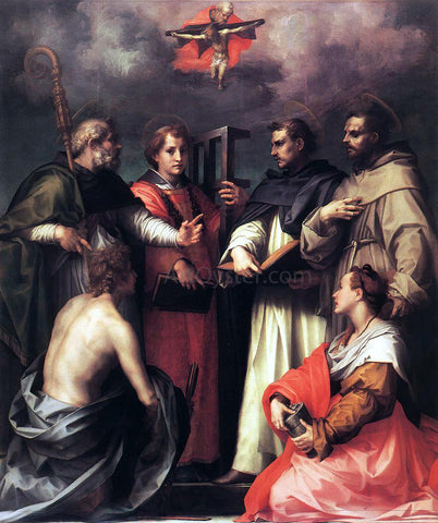 Andrea del Sarto Disputation over the Trinity - Hand Painted Oil Painting