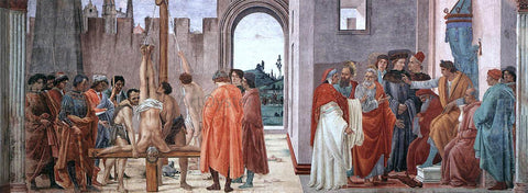 Filippino Lippi Disputation with Simon Magus and Crucifixion of Peter - Hand Painted Oil Painting