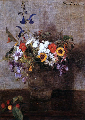 Henri Fantin-Latour Diverse Flowers - Hand Painted Oil Painting