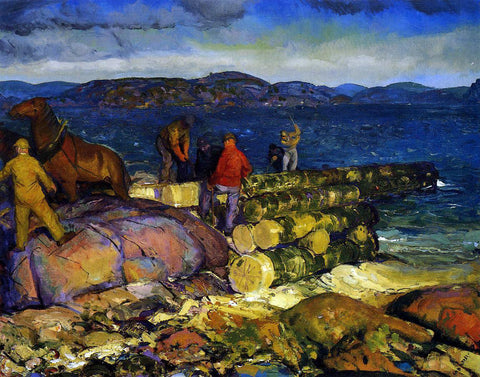 George Wesley Bellows Dock Builders - Hand Painted Oil Painting