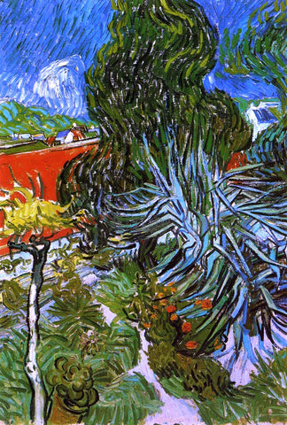 Vincent Van Gogh Doctor Gauchet's Garden in Auvers - Hand Painted Oil Painting