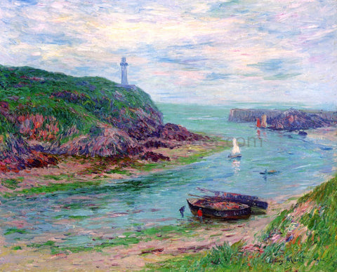 Henri Moret Doelan, Low Tide - Hand Painted Oil Painting