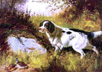 Arthur Fitzwilliam Tait Dog and Quail - Hand Painted Oil Painting