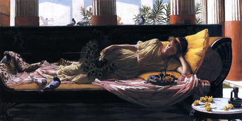 John William Waterhouse Dolce Far Niente - Hand Painted Oil Painting