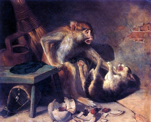 William Holbrook Beard Domestic Squabble - Hand Painted Oil Painting