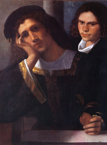 Giorgione Double Portrait (attributed to Giorgione) - Hand Painted Oil Painting