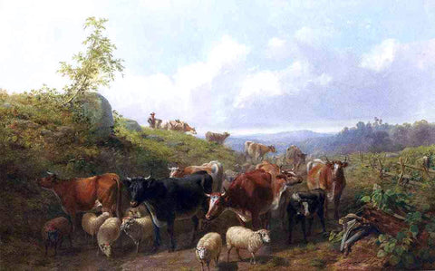 Arthur Fitzwilliam Tait Down the Road in Franklin County New York - Hand Painted Oil Painting