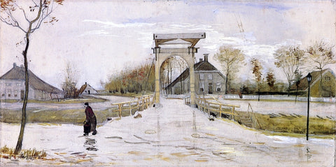 Vincent Van Gogh Drawbridge in Nieuw-Amsterdam - Hand Painted Oil Painting