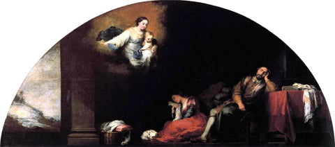 Bartolome Esteban Murillo Dream of Patrician John - Hand Painted Oil Painting