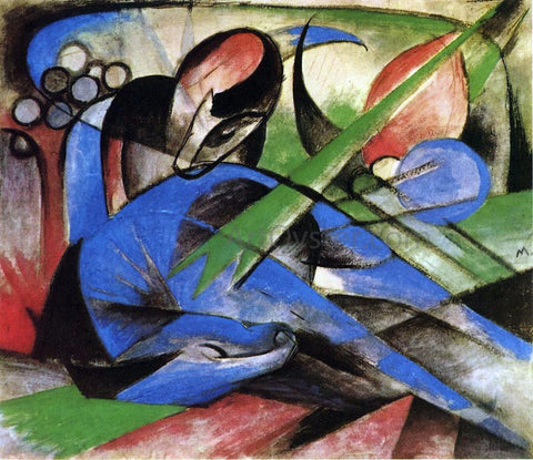 Franz Marc Dreaming Horses - Hand Painted Oil Painting