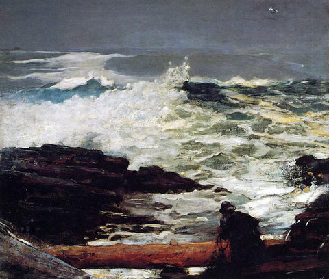 Winslow Homer Driftwood - Hand Painted Oil Painting