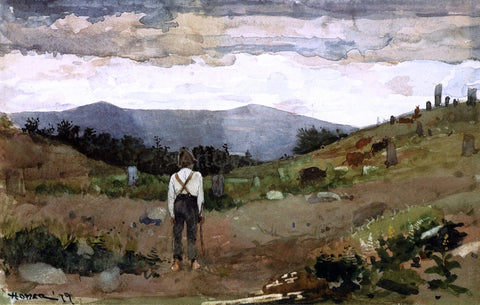 Winslow Homer Driving Cows to Pasture - Hand Painted Oil Painting
