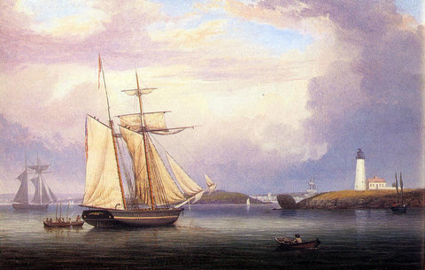 Fitz Hugh Lane Drying Sails off Ten Pound Island - Hand Painted Oil Painting