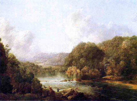 William Louis Sonntag Duck Hunters on the Ohio River - Hand Painted Oil Painting
