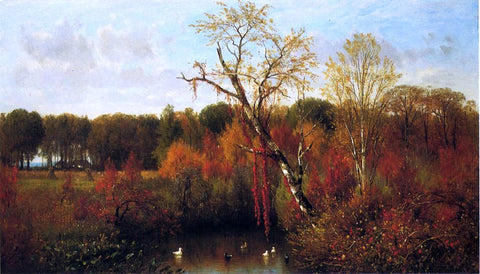 Thomas Worthington Whittredge The Duck Pond - Hand Painted Oil Painting