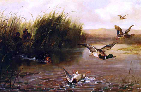 Arthur Fitzwilliam Tait The Duck Shooting - Hand Painted Oil Painting
