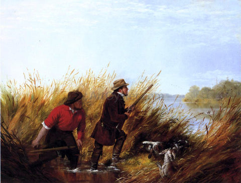 Arthur Fitzwilliam Tait Duck Shooting: A Good Shot - Hand Painted Oil Painting