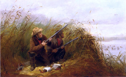 Arthur Fitzwilliam Tait Duck Shooting with Decoys - Hand Painted Oil Painting
