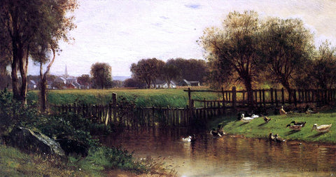 Jr. Samuel Colman The Ducks by a Pond - Hand Painted Oil Painting