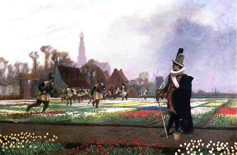 Jean-Leon Gerome Duel among the Tulips - Hand Painted Oil Painting