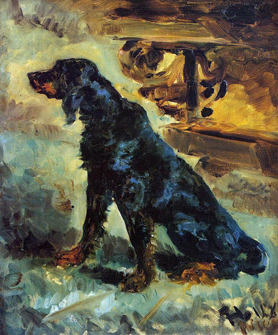 Henri De Toulouse-Lautrec Dun, a Gordon Setter Belonging to Comte Alphonse de Toulouse-Lautrec - Hand Painted Oil Painting
