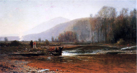 Jervis McEntee Dusk in the Foothills - Hand Painted Oil Painting