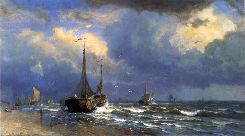 William Stanley Haseltine Dutch Coast - Hand Painted Oil Painting
