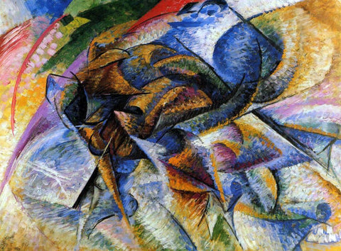 Umberto Boccioni Dynamism of a Biker - Hand Painted Oil Painting