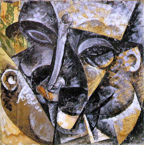 Umberto Boccioni Dynamism of a Man's Head - Hand Painted Oil Painting