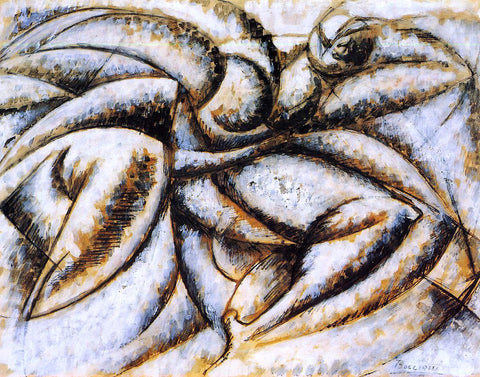Umberto Boccioni Dynamism of the Human Body - Hand Painted Oil Painting