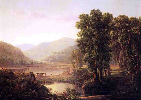 William Louis Sonntag Early Autumn Morning, Western Virginia - Hand Painted Oil Painting