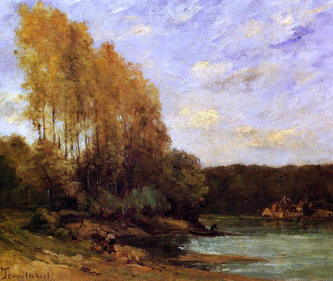 Paul Desire Trouillebert Early Autumn on a Lake - Hand Painted Oil Painting