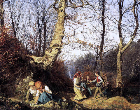 Ferdinand Georg Waldmuller Early Spring in the Wienerwald - Hand Painted Oil Painting