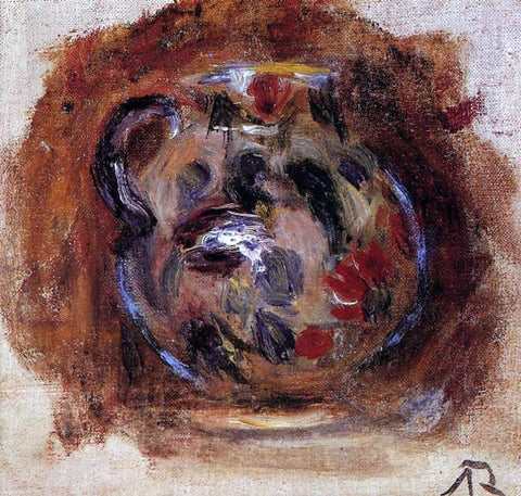 Pierre Auguste Renoir Earthenware Jug - Hand Painted Oil Painting