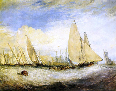 Joseph William Turner East Cowes Castle, the Seat of J. Nash, Esq.; the Regatta Beating to Windward - Hand Painted Oil Painting