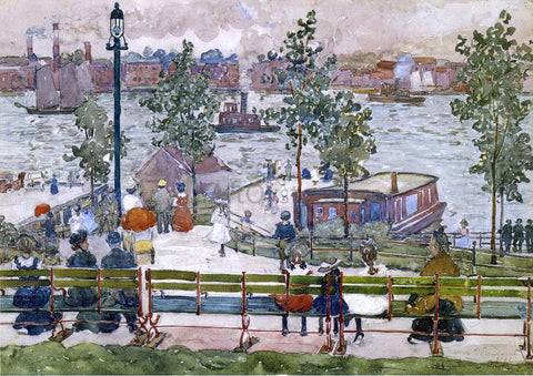 Maurice Prendergast East River Park - Hand Painted Oil Painting