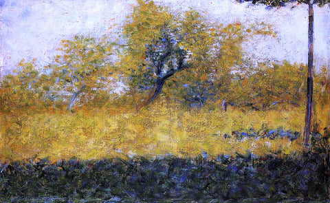 Georges Seurat Edge of Wood, Springtime - Hand Painted Oil Painting