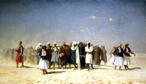 Jean-Leon Gerome Egyptian Recruits Crossing the Desert - Hand Painted Oil Painting