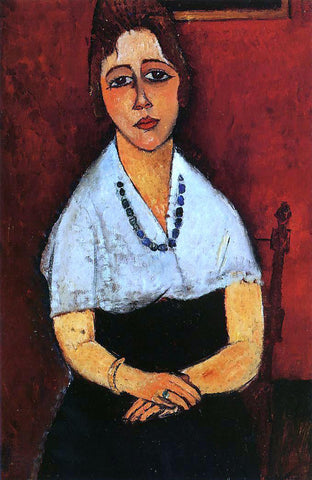 Amedeo Modigliani Elena Picard - Hand Painted Oil Painting