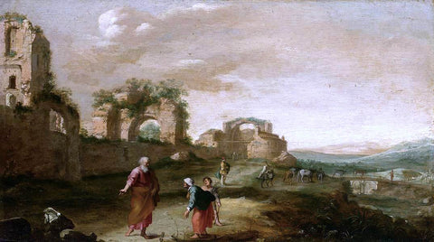 Bartholomeus Breenbergh Elijah and the Widow of Zarephath - Hand Painted Oil Painting