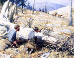 Arthur B Frost Elk Ahead - Hand Painted Oil Painting