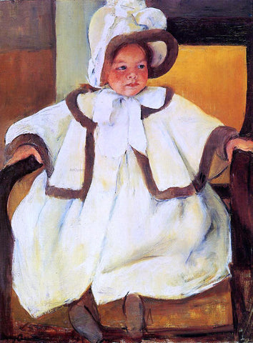 Mary Cassatt Ellen Mary Cassatt in a White Coat - Hand Painted Oil Painting