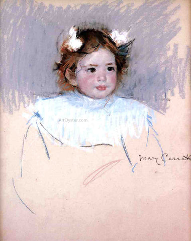 Mary Cassatt Ellen with Bows in Her Hair, Looking Right - Hand Painted Oil Painting
